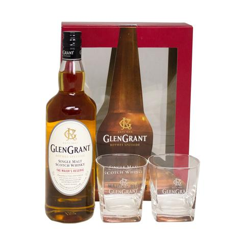 Glen Grant The Major Reserve + 2 Glasses Gift Set